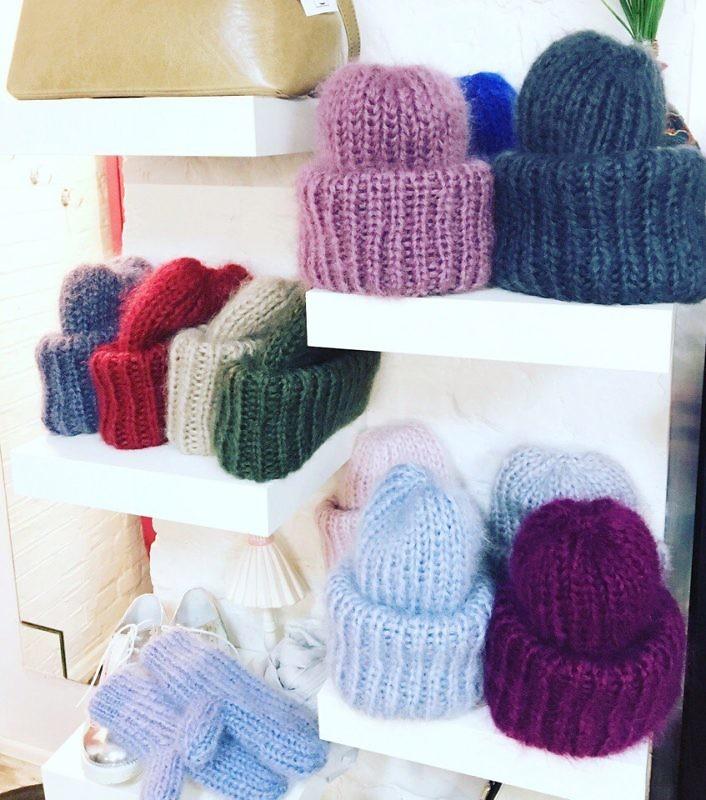 Вязаные шапки из мохера TEPLOTEPLO