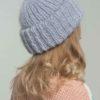 Стильная вязаная шапка из мохера